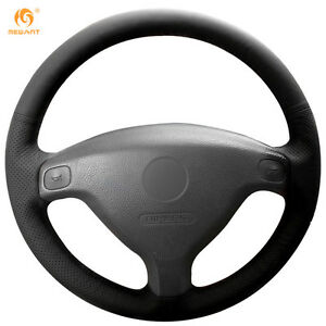 Leather Steering Wheel Cover For Buick Sail Opel Astra G H 1998 2007 Zafira Ob6