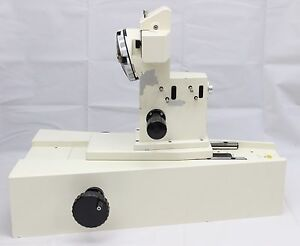 Large Zeiss Axioline Wafer Inspection Microscope Focus Block Dic Nosepiece Axio
