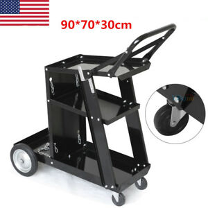 Mig Tig Arc Welder Welding Cart Heavy Duty Universal Storage For Tanks W handle