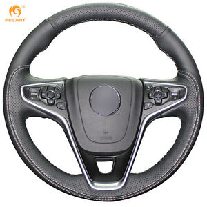 Leather Steering Wheel Cover For Buick Regal Opel Insignia 2014 2015 Ob01