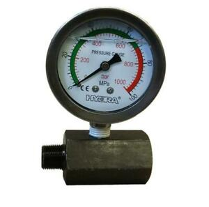 Hydraulic Pressure Gauge With Stand 11500 Psi 2 1 2 Spg60