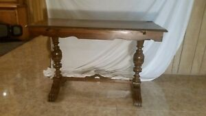 Early 1900s Antique Duncan Phyfe Sofa Dining Table Solid Mahogany