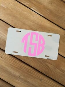 Personalized Monogrammed License Plate Car Tag Initials Custom Pick Any Color