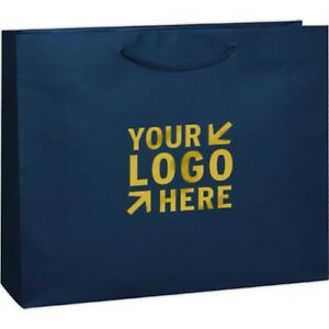 100 Custom Matte Laminated Euro Tote Bag Printed W Your Logo Or Message 16x6x12