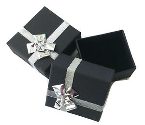 Lot Of 50 Black Ring Jewelry Gift Boxes With Bow