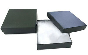 Lot Of 50 Black Cotton Filled Jewelry Gift Boxes 3 5 X 3 5 X 1