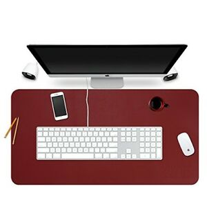 Desk Pad Protecter 35 X 18 Pu Leather Desk Mat Blotters Organizer With