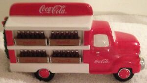 Dept 56 Coca Cola Delivery Truck Signed 1998 by Artist Mint Condition
