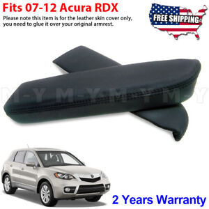 Fits 2007 2012 Acura Rdx Leather Front Door Panels Armrest Cover 2pcs Black