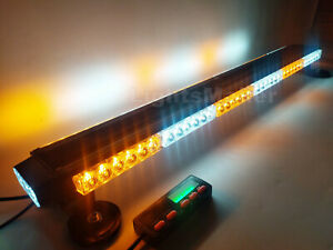 38 78w 78 Led Traffic Advisor Emergency Warn Truck Amber White Strobe Light Bar