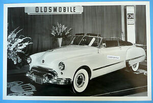 1948 Oldsmobile Convertible Top Down Olds 12 By 18 Black White Picture Photo