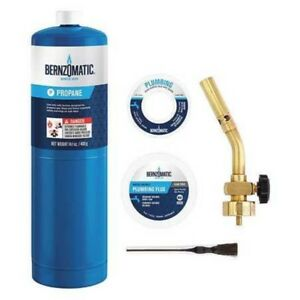Bernzomatic Pk1001 Pencil Flametorch Plumbers Kit 5 Pc