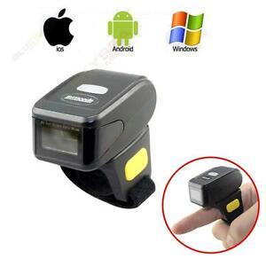 Mini Portable Ring Finger Type Bluetooth Barcode Scanner Data Reader Andriod ios