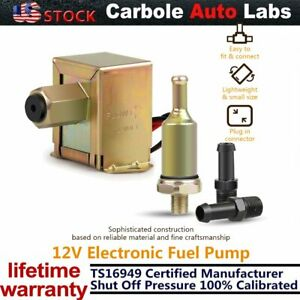 New 4 7 Psi Auto Universal Electric Fuel Pump Inline Diesel Gas Low