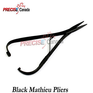 Mathieu Ligature Elastic Placing Plier 5 5 Full Black Coated Orthodontic Pliers