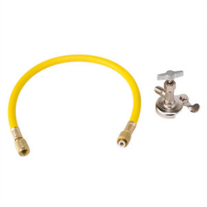 Air Conditioning Refrigerant Charging Hose R12 R22 R134a Can Tap Valve Auto Car