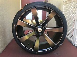 New Set Of 4 26 Inch Asanti Rims And Tires