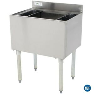 Regency Restaurant Bar Stainless Steel 18 X 24 Underbar Ice Bin 77 Lb