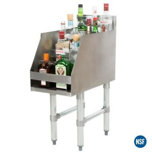 Commercial 12 Five tiered Stainless Steel Liquor Bottle Display Rack 23 Deep