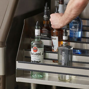 Commercial 18 Five tiered Stainless Steel Liquor Bottle Display Rack 23 Deep