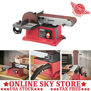 4 in x 36 in Belt Disc Sander Tabletop Bench Top Woodworking Sanding Power Tool