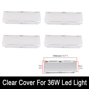 4x Snap On Clear 36w Protective Cover For 22 Inch 144w Led Work Light Bar Atv