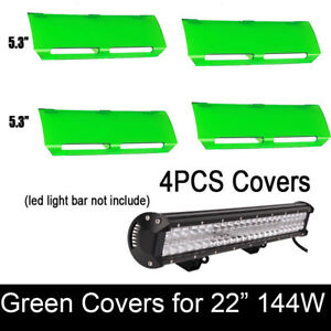 4x Snap On Green Lens 36w Cover For 22 Inch Cree 144w Led Work Light Bar Atv