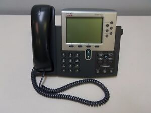 Cisco Systems Cp 7961g Ip Phone 7961 Series 7900 Voip Office Desk Phone