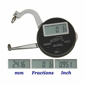 Igaging Digital Electronic Thickness Gage 0 1 25mm Micrometer Caliper Inch m