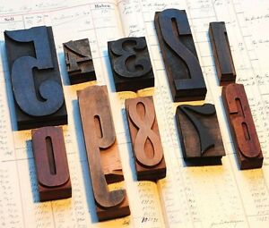 Mixed Numbers 0 9 Letterpress Wood Printing Blocks Wood Type Number Stamp Shabby