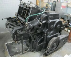 Original Heidelberg Cylinder Press 15 x20 5