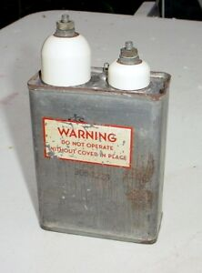 Sprague Vitamin Q 2x 0 15mfd 8000v Oil Capacitor