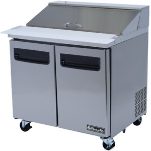 Blue Air Commercial Kitchen 36 Refrigerated Sandwich Salad Prep Table 9 5 Cu