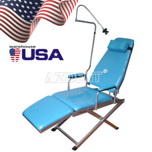 Usa Dental Portable Folding Chair With Rechargeable Led Light Gm c004