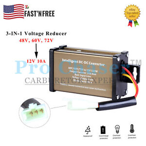 Ebike Electric Bicycle Dc dc Converter Adapter 48v 72v To 12v 10a