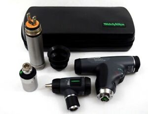 Welch Allyn 3 5v Diagnostic Set Panoptic Ophthalmoscope Macroview Otoscope Case