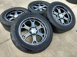 20 Chevy Silverado Oem Chrome Rims Wheels Tires 5651 2014 2015 2016 2017 2018