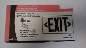 Cooper Lighting Sure lites Exit emergency Light Led Exit Sign 120 277 V Lpx7