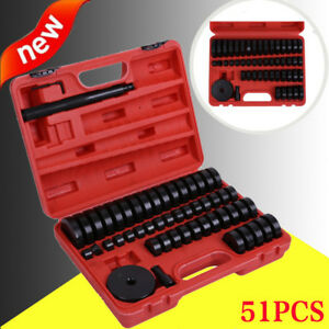 52pc Deluxe Bush Bushing Bearing Seal Driver Disc Tool Set 3 4 Up To 2 15 16