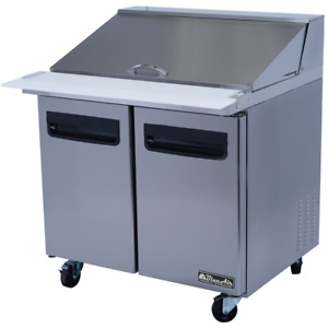 Blue Air Commercial Kitchen 36 Mega Top Sandwich Salad Prep Table 3yrwarranty