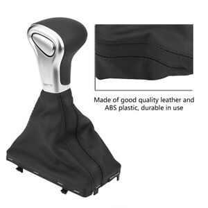 Car Gear Shift Knob Gaiter Boot Dust proof Cover Black Leather For Audi A6 12 15