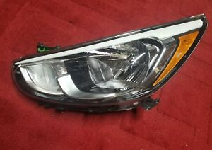 Hyundai Accent Headlight Halogen Headlamp Left Oem 2015 2016 2017