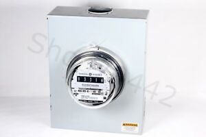 Ge General Electric Watthour Meter 120v 4w Type 1 70 s Analog Tmd 170s Complete