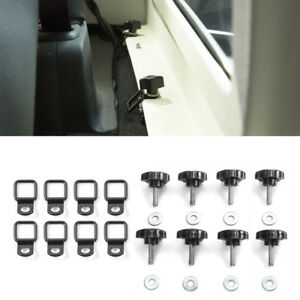 For Jeep Wrangler Jk 07 18 Quick Removal Fastener Thumb Screws D Rings Anchor