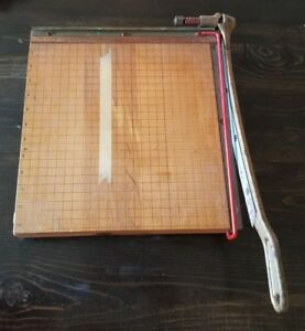 Vintage Ingento No 4 Paper Cutter Ideal School Company Homeschool Teacher
