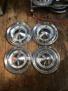 55 Chevy 150 210 b a Nomad Hubcaps 15