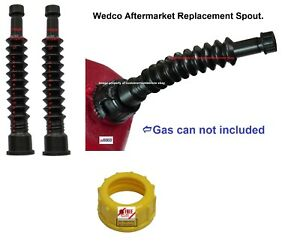 Two 2 Aftermarket Heavy Duty Wedco Briggs Gas Can Spouts Diesel Kerosene Water