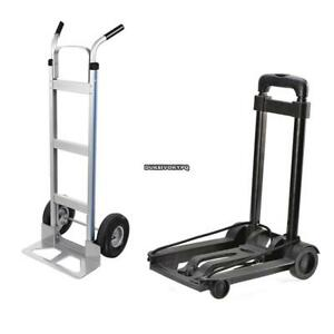 500lb 40kg Platform Cart Dolly Folding Moving Luggage Push Hand Truck Heavy Duty