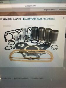 International Bd154 Major Engine Overhaul Kit 364 374 384 414 444 B434 2444