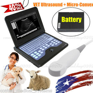 Portable Vet Veterinary Ultrasound Scanner Digital Laptop Machine dog cat contec